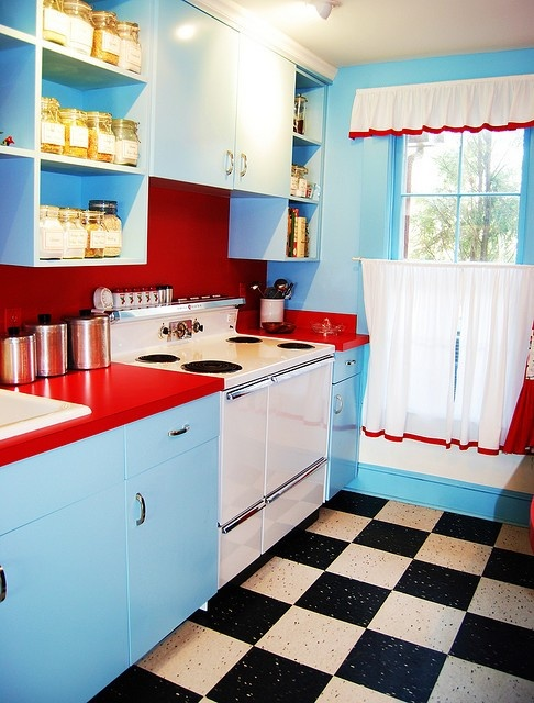 50s style kitchen  For Amber when She Pins  Pinterest