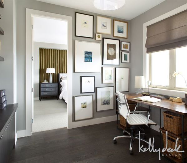 home office paint color ideas home office paint color with dark wood floor and desk. | dreams for my home | Pinterest