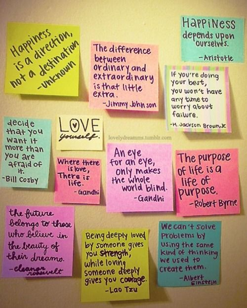 some good quotes but I also like the idea of having a quote board in my office... maybe encourage my students to give one or take one that inspires them, and it can just be a revolving board of motivation! =)