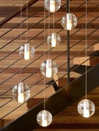 Pendant lights over stairs | Lights | Pinterest
