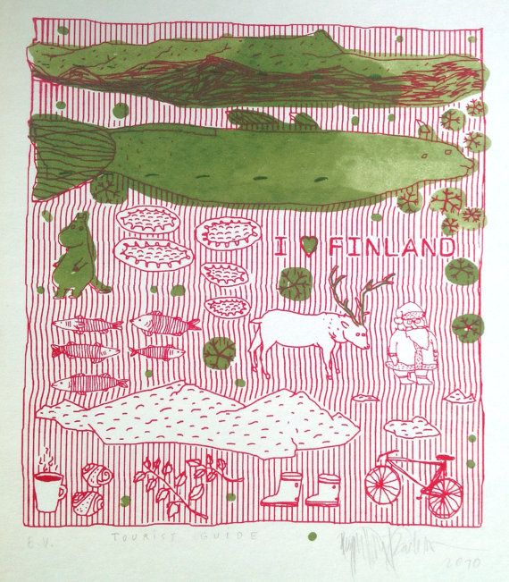 I Heart Finland /serigraphy print/