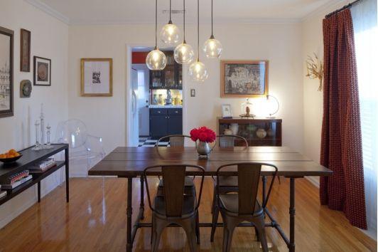 Unique dining room lighting  Dining Room  Pinterest