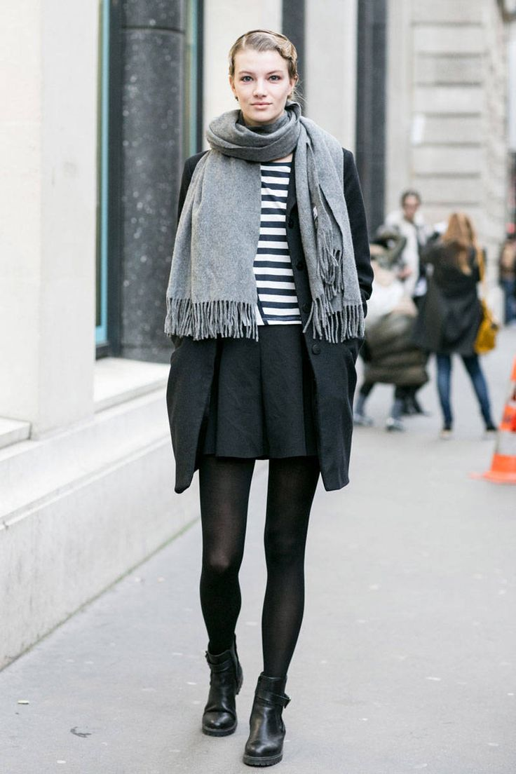 Street Style Paris Spring 2014 - Model off duty (Jan. 2014)