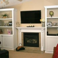 Built in cabinets around fireplace | Dream Home | Pinterest