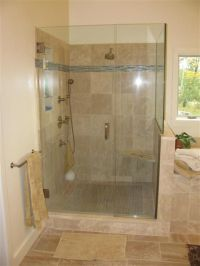 Custom tiled walk in shower