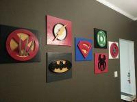 Superhero wall art | Superhero Room | Pinterest