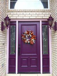 "Purple Front Door | Nothing says ""Welcome"" like a lovely ..."