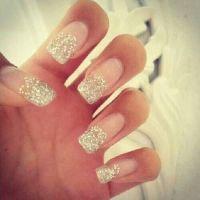 #Glitter fake nails | Panda: nails | Pinterest