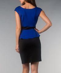 Royal Blue Scuba Peplum Dress | Daily deals for moms ...
