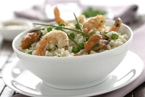 Receta de Ensalada de arroz con Langostinos y Mejillones en mariskito.com