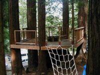 simple platform treehouse | Backyard | Pinterest