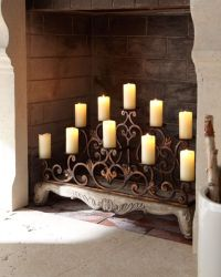 Gorgeous fireplace candelabra   For the Home   Pinterest