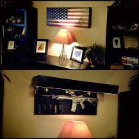 hidden Gun rack cool. | Furniture Love | Pinterest