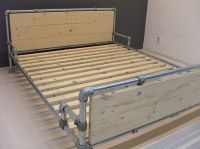 Bed made with Kee Klamp pipe fittings.   Beds made with ...