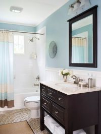 idea for small bathroom. | House Color Ideas | Pinterest
