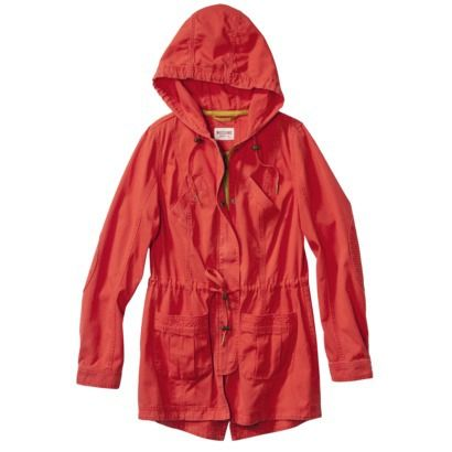 Mossimo Supply Co. Juniors Long Anorak Coat -Assorted Colors