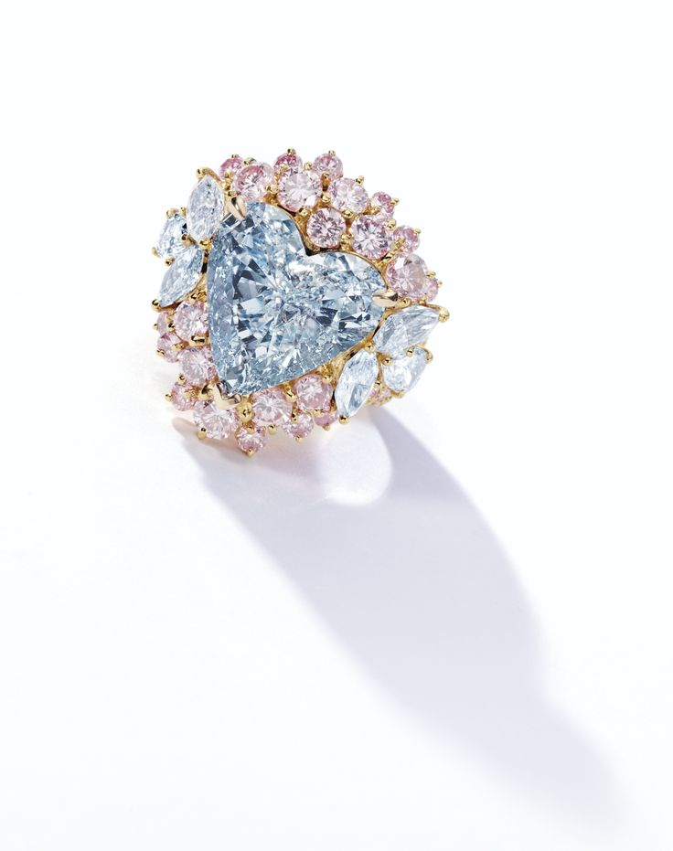 Fancy Blue Diamond and Pink Diamond Ring | Lot | Sotheby's