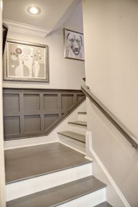 Great trim color and trim up stairs | for the home | Pinterest