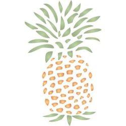 pineapple stencil primitive stencils natural forms folk colonial
