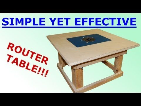 Woodworking - Simple Mobile Router Table | DIY / Wood Shop | Pinterest