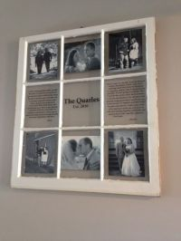 My DIY window picture frame | Creative ideas | Pinterest