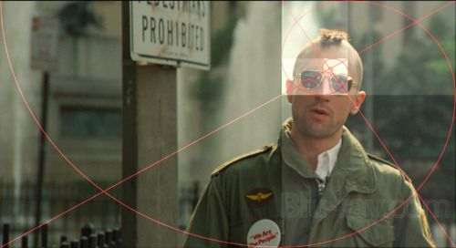 Taxi Driver and the golden ratio. Michael Chapman, director of photography