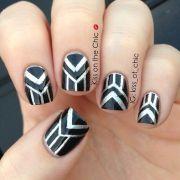 graphic nail art nails