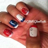 Patriotic Nail Design. | Nails | Pinterest