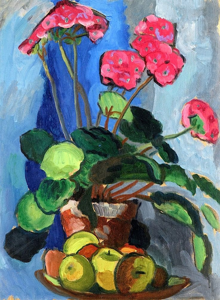 Still LIfe with Red Primroses Gabrielle Münter