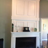 Fireplace with wood panels   For the Home   Pinterest