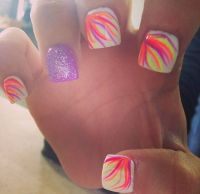 Neon acrylic nails | clothes and more | Pinterest