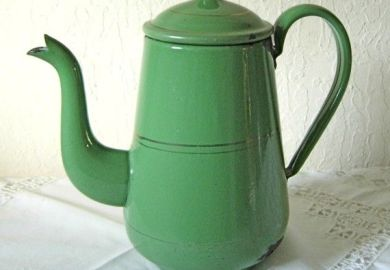 Antique Enamelware Coffee Pot Antiques Us