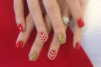 Red And Gold Nail Designs | Joy Studio Design Gallery ...