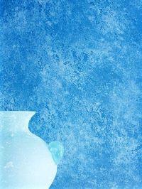 Blue sponge painting wall. | Interior paint ideas | Pinterest