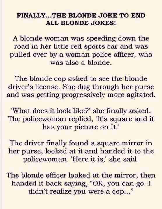 Dumb Blonde Jokes Quotes
