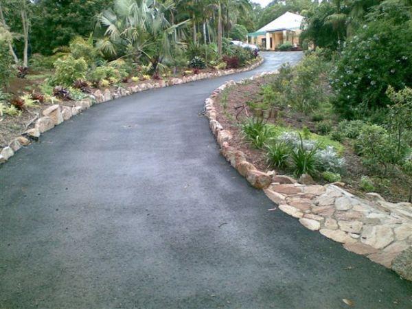 sloped driveway design - google
