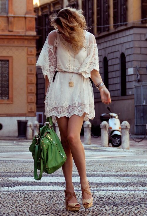 bright bags and lace