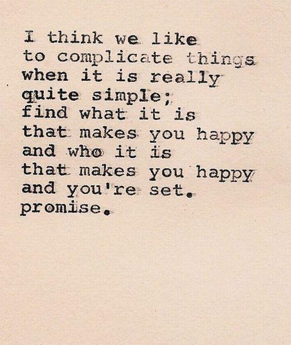 we complicate things