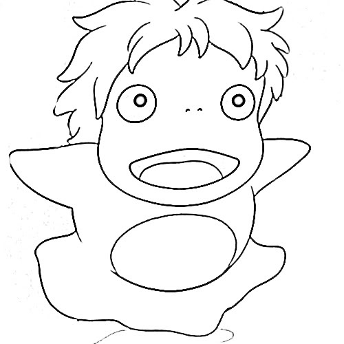 Kiki And Ponyo Coloring Pages Coloring Pages