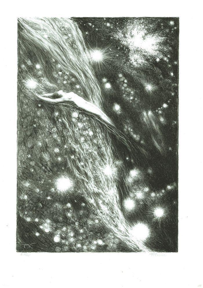 František Kobliha - Cosmic Vision, (1945-1946), lithograph,
