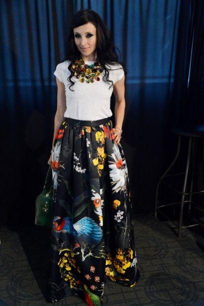 Stacey Bendet. Flower skirt Alice + Olivia