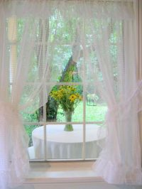 French Country Decor Window Treatment, Curtains, Swiss Dot ...