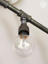 DIY Plumbing Pipe Light Fixture