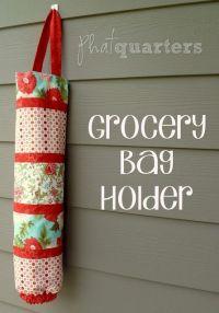 DIY Grocery Bag Holder   Sewing..   Pinterest