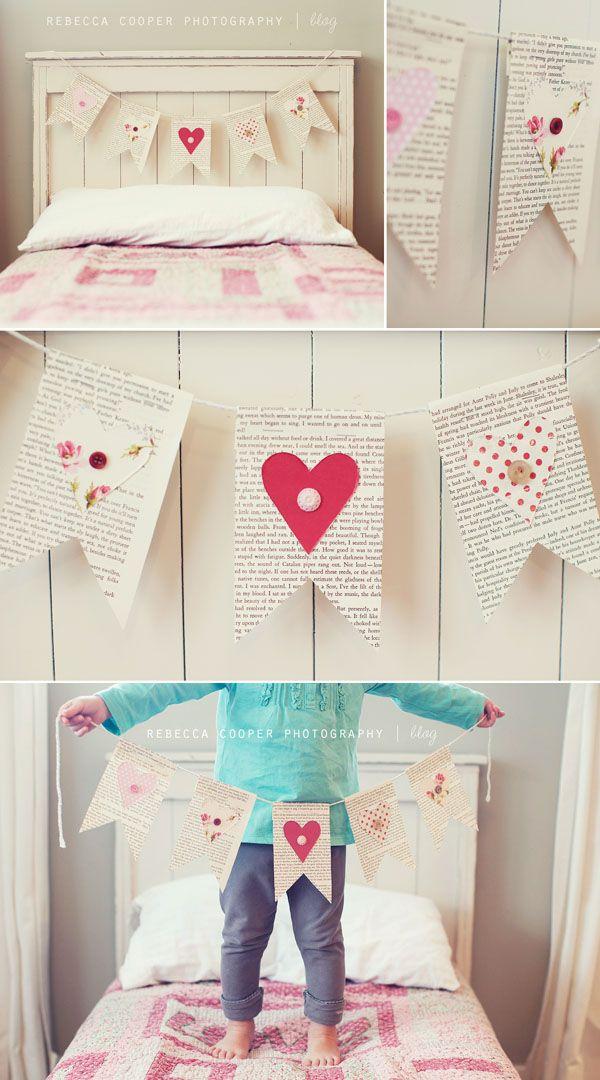 valentines day bunting diy