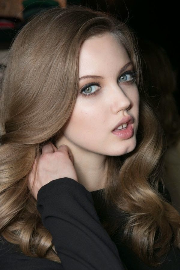 Medium neutral brown hair color