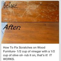How to fix scratches on wood furniture | DIY | Pinterest