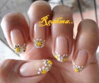 French Tip Flower | Nail Art - Flowers | Pinterest