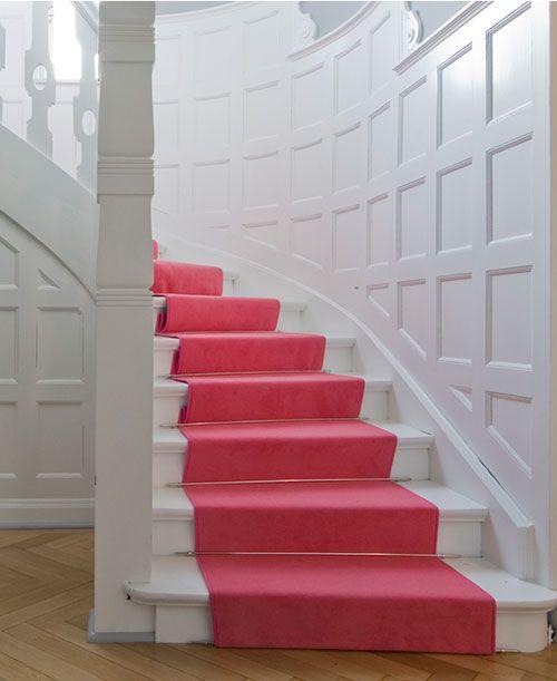 Pink stair runner