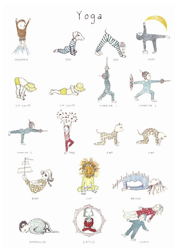 Yoga poster for kids